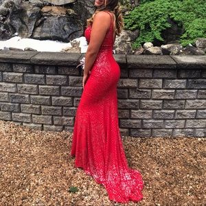 Red Sparkly Jovani Prom Dress